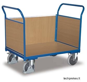 Sisteminis vežimėlis su trims MDF bortais 1190x600 mm (ilgesnis bortas gali būti išimamas)