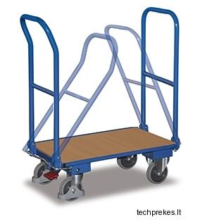 Vežimėlis su dviem sulenkamomis rankenomis ir EasySTOP stabdžiu 1035x620 mm