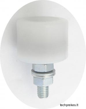 Kreipiantysis prilaikantis 33 mm diametro ratukas su varžtu (su guoliuku)