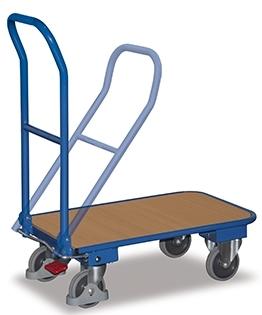 Vežimėlis su sulenkama rankena ir EasySTOP stabdžiu 820x470 mm